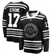 Fanatics Branded Chicago Blackhawks 17 Dylan Strome Black 2019 Winter Classic Breakaway Youth NHL Jersey