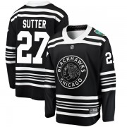 Fanatics Branded Chicago Blackhawks 27 Darryl Sutter Black 2019 Winter Classic Breakaway Youth NHL Jersey