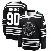 Fanatics Branded Chicago Blackhawks 90 Matt Tomkins Black 2019 Winter Classic Breakaway Youth NHL Jersey