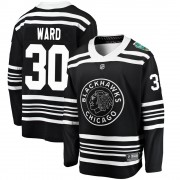 Fanatics Branded Chicago Blackhawks 30 Cam Ward Black 2019 Winter Classic Breakaway Youth NHL Jersey