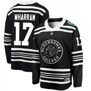 Fanatics Branded Chicago Blackhawks 17 Kenny Wharram Black 2019 Winter Classic Breakaway Youth NHL Jersey