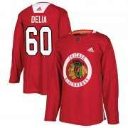 Adidas Chicago Blackhawks 60 Collin Delia Authentic Red Home Practice Men's NHL Jersey