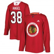 Adidas Chicago Blackhawks 38 Brandon Hagel Authentic Red Home Practice Men's NHL Jersey