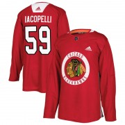 Adidas Chicago Blackhawks 59 Matt Iacopelli Authentic Red Home Practice Men's NHL Jersey
