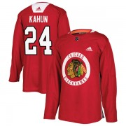 Adidas Chicago Blackhawks 24 Dominik Kahun Authentic Red Home Practice Men's NHL Jersey