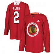 Adidas Chicago Blackhawks 2 Duncan Keith Authentic Red Home Practice Men's NHL Jersey
