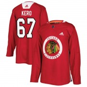 Adidas Chicago Blackhawks 67 Tanner Kero Authentic Red Home Practice Men's NHL Jersey