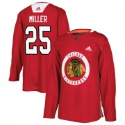 Adidas Chicago Blackhawks 25 Drew Miller Authentic Red Home Practice Men's NHL Jersey