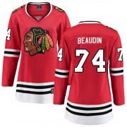 Fanatics Branded Chicago Blackhawks 74 Nicolas Beaudin Red ized Breakaway Home Women's NHL Jersey