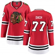 Fanatics Branded Chicago Blackhawks 77 Kirby Dach Red Breakaway Home Women's NHL Jersey