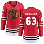 Fanatics Branded Chicago Blackhawks 63 Carl Dahlstrom Red Breakaway Home Women's NHL Jersey