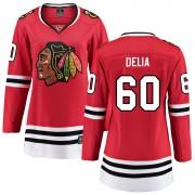 Fanatics Branded Chicago Blackhawks 60 Collin Delia Red Breakaway Home Women's NHL Jersey