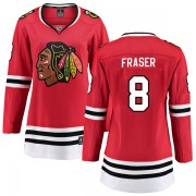 Fanatics Branded Chicago Blackhawks 8 Curt Fraser Red Breakaway Home Women's NHL Jersey