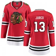 Fanatics Branded Chicago Blackhawks 13 Tomas Jurco Red Breakaway Home Women's NHL Jersey
