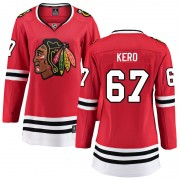 Fanatics Branded Chicago Blackhawks 67 Tanner Kero Red Breakaway Home Women's NHL Jersey