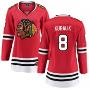 Fanatics Branded Chicago Blackhawks 8 Dominik Kubalik Red Breakaway Home Women's NHL Jersey