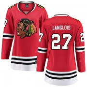 Fanatics Branded Chicago Blackhawks 27 Jeremy Langlois Red Breakaway Home Women's NHL Jersey