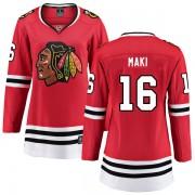Fanatics Branded Chicago Blackhawks 16 Chico Maki Red Breakaway Home Women's NHL Jersey