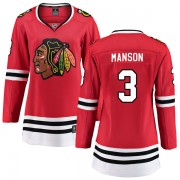 Fanatics Branded Chicago Blackhawks 3 Dave Manson Red Breakaway Home Women's NHL Jersey