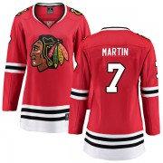 Fanatics Branded Chicago Blackhawks 7 Pit Martin Red Breakaway Home Women's NHL Jersey