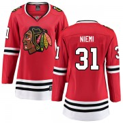 Fanatics Branded Chicago Blackhawks 31 Antti Niemi Red Breakaway Home Women's NHL Jersey