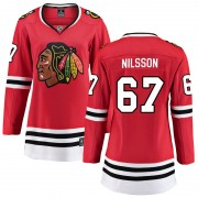 Fanatics Branded Chicago Blackhawks 67 Jacob Nilsson Red Breakaway Home Women's NHL Jersey