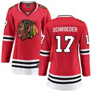 Fanatics Branded Chicago Blackhawks 17 Jordan Schroeder Red Breakaway Home Women's NHL Jersey