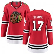 Fanatics Branded Chicago Blackhawks 17 Dylan Strome Red Breakaway Home Women's NHL Jersey