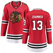 Fanatics Branded Chicago Blackhawks 13 Alex Zhamnov Red Breakaway Home Women's NHL Jersey