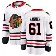 Fanatics Branded Chicago Blackhawks 61 Tyler Barnes White Breakaway Away Youth NHL Jersey