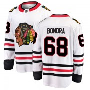 Fanatics Branded Chicago Blackhawks 68 Radovan Bondra White Breakaway Away Youth NHL Jersey