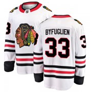 Fanatics Branded Chicago Blackhawks 33 Dustin Byfuglien White Breakaway Away Youth NHL Jersey