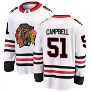 Fanatics Branded Chicago Blackhawks 51 Brian Campbell White Breakaway Away Youth NHL Jersey