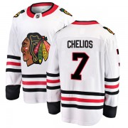 Fanatics Branded Chicago Blackhawks 7 Chris Chelios White Breakaway Away Youth NHL Jersey
