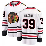 Fanatics Branded Chicago Blackhawks 39 Enrico Ciccone White Breakaway Away Youth NHL Jersey