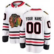 Fanatics Branded Chicago Blackhawks 00 Custom White Breakaway Away Youth NHL Jersey
