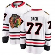 Fanatics Branded Chicago Blackhawks 77 Kirby Dach White Breakaway Away Youth NHL Jersey