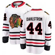 Fanatics Branded Chicago Blackhawks 44 John Dahlstrom White Breakaway Away Youth NHL Jersey