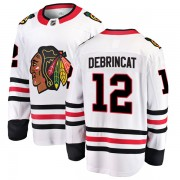 Fanatics Branded Chicago Blackhawks 12 Alex DeBrincat White Breakaway Away Youth NHL Jersey