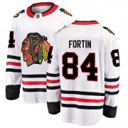 Fanatics Branded Chicago Blackhawks 84 Alexandre Fortin White Breakaway Away Youth NHL Jersey
