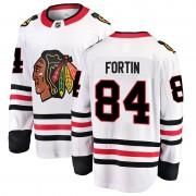 Fanatics Branded Chicago Blackhawks 84 Alexandre Fortin White Breakaway Away Youth NHL Jersey