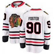 Fanatics Branded Chicago Blackhawks 90 Scott Foster White Breakaway Away Youth NHL Jersey