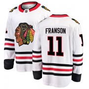 Fanatics Branded Chicago Blackhawks 11 Cody Franson White Breakaway Away Youth NHL Jersey