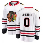 Fanatics Branded Chicago Blackhawks 00 Clark Griswold White Breakaway Away Youth NHL Jersey
