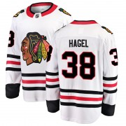 Fanatics Branded Chicago Blackhawks 38 Brandon Hagel White Breakaway Away Youth NHL Jersey