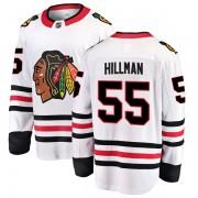 Fanatics Branded Chicago Blackhawks 55 Blake Hillman White Breakaway Away Youth NHL Jersey