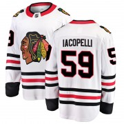 Fanatics Branded Chicago Blackhawks 59 Matt Iacopelli White Breakaway Away Youth NHL Jersey