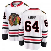 Fanatics Branded Chicago Blackhawks 64 David Kampf White Breakaway Away Youth NHL Jersey