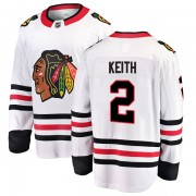 Fanatics Branded Chicago Blackhawks 2 Duncan Keith White Breakaway Away Youth NHL Jersey