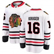 Fanatics Branded Chicago Blackhawks 16 Marcus Kruger White Breakaway Away Youth NHL Jersey